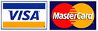 Credit Cards: Visa, Mastercard